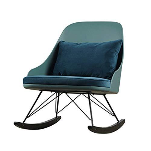 HOLPPO-Desk Mecedora, Sofá, Silla Siesta, Lazy Ocio, reclinable, Tela, Sala, Mecedora, Azul, Gris, Rosa (Color : Blue, Size : B)