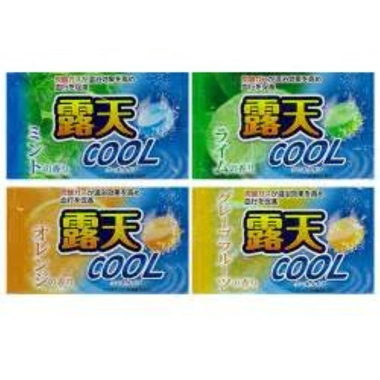 雇った酸化物接続された薬用発泡入浴剤 露天クール 4種×3 12個