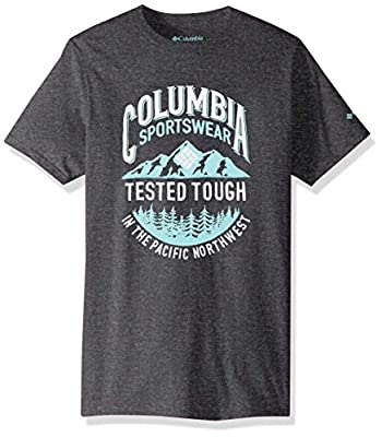 Columbia Apparel Men's Graphic T-Shirt, Charcoal Heather/Tough, X Large