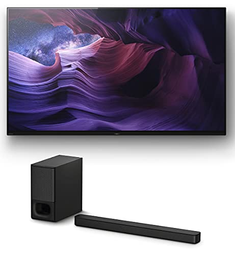 """Sony XBR-48A9S 48"""" Inch Master Series BRAVIA OLED 4K Smart HDR TV with a Sony HT-S350 2.1 Channel Home Theater Soundbar Wireless System (2020)"""