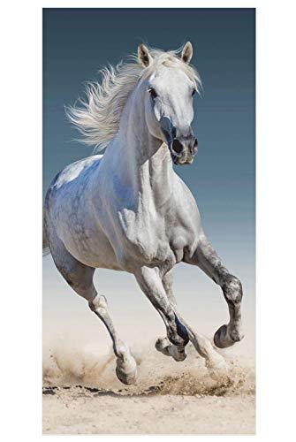 JF Animal Pictures - Toalla de playa (70 x 140 cm), diseño de caballo