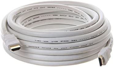 26AWG High Speed HDMI Cable with Ethernet 25 Feet - Supports 3D and Audio Return, White