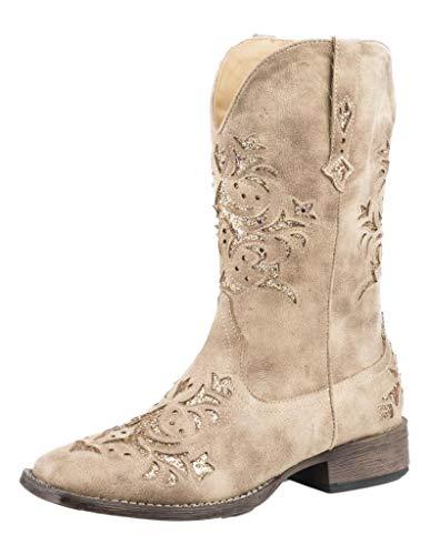 Roper Women's Western Fashion Boot, Tan, 7.5