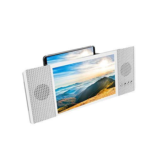 Kobwa 20,3 cm schermo lente d' ingrandimento con audio altoparlante per smartphone, retrattile 3D Smart Phone HD Schermo di ingrandimento, FM radio amplificatore video proiettore, USB & TF Card Play