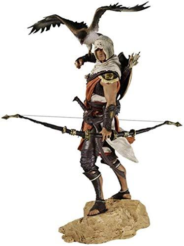 -HPJ Doll Assassin S Creed Bayek Figura con Eagle - Tall 9 8 Pulgadas WMD3