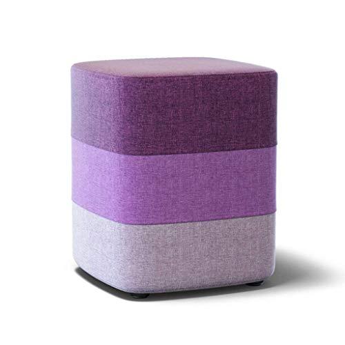 HGMMY Taburete de Esponja, Tela Transpirable, para Colocar en la habitación, sofá, reposapiés, para niños, Adultos, Lectura de taburetes pequeños para niños (Color: Morado, tamaño: 33 35 cm)