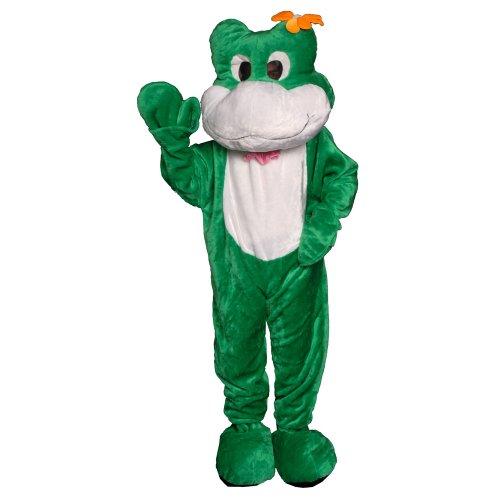 Dress up America Disfraz de Mascotaa de rana de adulto blanco y verde