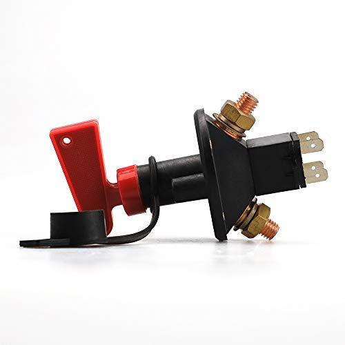 Max Batterietrennschalter abklemmen Hauptschalter f/ür Abschaltung bei PKWs//Gel/ändewagen//LKWs//Schiffen//Booten 32 V 200 A CONT 300 A INT Ein Aus Autobatterie-Trennschalter