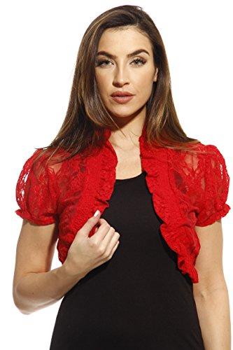 2502-RED-3X Just Love Plus Size Shrug / Women Cardigan
