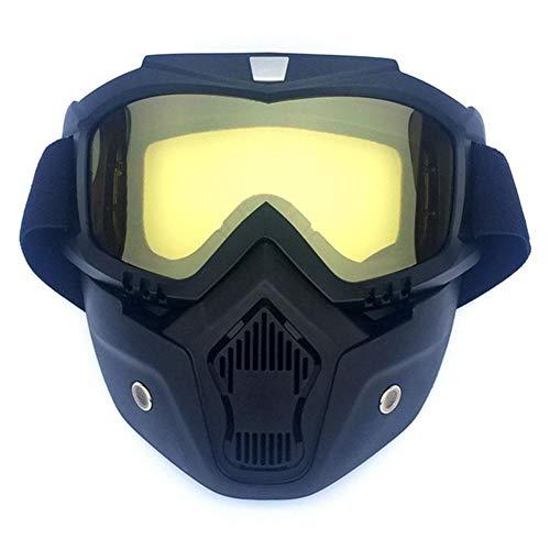 Joe Boxer Wintersport Ski-Maske, Berg Ski Snowboard Brille Motor Radfahren Coole Masken Männer Frauen Goggle Brille,B
