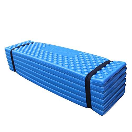 LZDseller01 - Colchón de espuma para dormir, colchón de acampada, almohadilla de espuma para dormir, ultraligero, plegable, resistente a la humedad, para picnic, playa, tienda de campaña impermeable, Azul + negro.