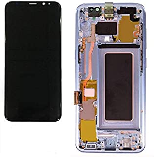 Compatible with Samsung Galaxy S8+ Plus G955F G955A G955P G955V G955T G955R4 LCD Touch Screen Display with Frame+ Tools (Purple)