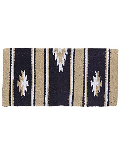 Tough 1 Wool Sierra Miniature Saddle Blanket, Taupe/Black