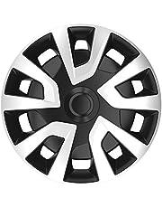 AUTOSTYLE PP 5355 Juego de 4 Tapacubos Revo-Van 15 Pulgadas Plateado/Negro (esférico), 38 cm