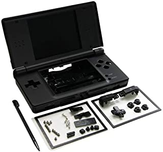SHKRRB Full Repair Parts Replacement Housing Shell Case Kit for Nintendo DS Lite NDSL (Color : Black)