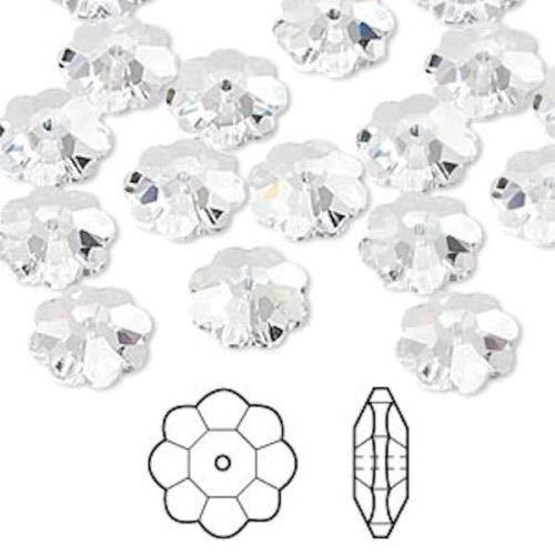 12 Swarovski Marguerite Lochrose Flower Crystal Beads ~ 10x3.5mm Crystal ~ 3700