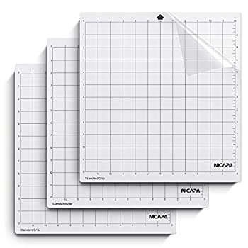 Nicapa StandardGrip Cutting Mat for Silhouette Cameo 4/3/2/1  12x12 inch,3 Mats  Standard Adhesive Sticky Quilting Cricket Cut Mats Replacement Accessories for Silhouette Cameo