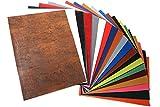 20 Stück Kunstleder Stoff Blätter 31cm x 43cm für DIY Basteln Nähen Herstellung, Kunsthandwerk, Taschenherstellung, Dekoration