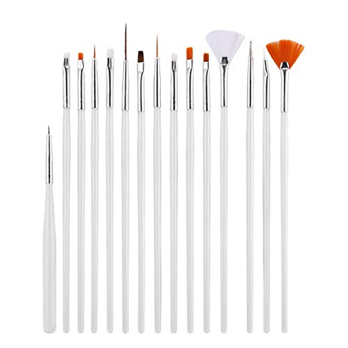 Ruiqas Nail Art Brush Set, 15 Stks Professionele Nagel Art Nagel Pen Line Tekening Schilderpen UV Gel Poolse Manicure Tools