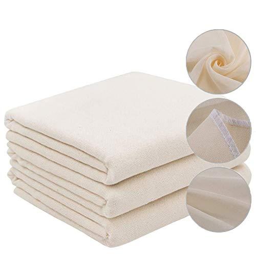 GOODGDN 5pcs Cheese Cloth Paño Queso Bolsa de Leche Telas Filtrantes de Nuez Reutilizable Gasa Colador Mulla para Queso Tejido de Algodón Natural para Mantequilla Leche 50 x 50cm Blanco