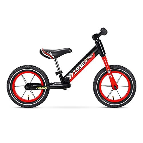 Bicicleta Equilibrio Bicicleta de Equilibrio Ligera de 12 Pulgadas, Bicicleta de Entrenamiento Sin Pedales para Niños Pequeños para Niños Pequeños de 2 3 4 5 6 Años, con Asiento Ajustable