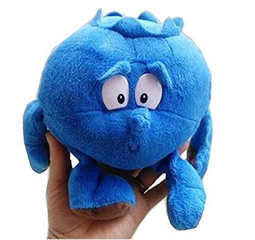 BriskyM 1 Stück Früchte Gemüse Weich Plüschtier Baby Jungen Mädchen Stofftiere Schlaf Komfort Spielzeug für Baby Kinder Lernen Geschichte Spielzeug Puppen (Blaubeere, 22cm)