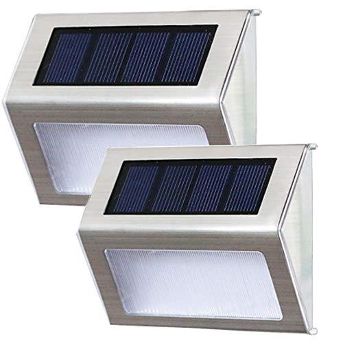 ZHANG Solarlamp voor buiten, draad, veiligheidslampen, bewegingssensor, buitenverlichting, zonne-energie, waterdicht, roestvrij staal, voor hek, tuin, trap, patio, allee