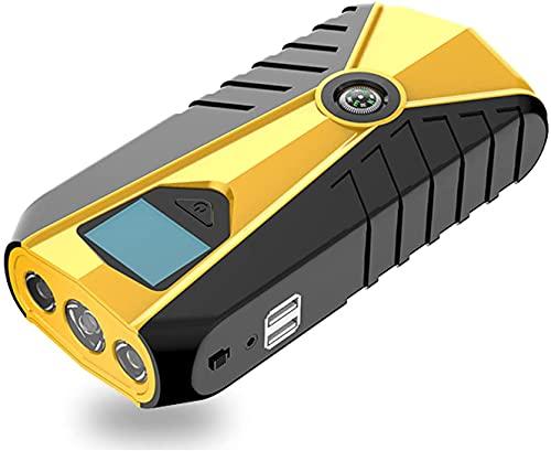 WQQWQQ Arrancador de Coches, Cargador de batería de alimentación móvil de Emergencia de Salida de Emergencia de 12 V, batería con Pantalla LCD, Linterna LED, brújula, para automóviles, Motocicletas