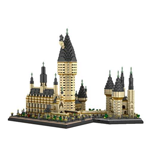 ESGT Hogwarts Castle Nano Bausteine Spielzeug, Geschenkidee Für Zaubererweltfan, Baukasten Für Kinder (mit LED-Licht)