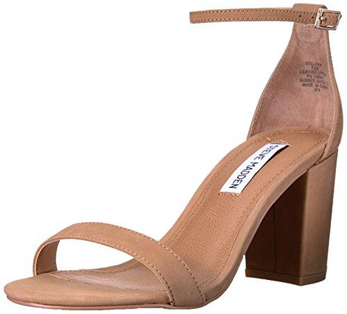 Steve Madden Women's Declair Dress Sandal, Camel Nubuck, 5.5 M US