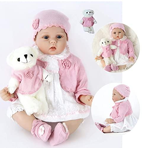 ZIYIUI Reborn Poupée 22 Pouces 55 Cm Réaliste Bebe Reborn Fille Souple en Silicone Vinyle Souple Lifelike Nouveau-né Reborn Baby Dolls Garçon Fille Jouets A3FR