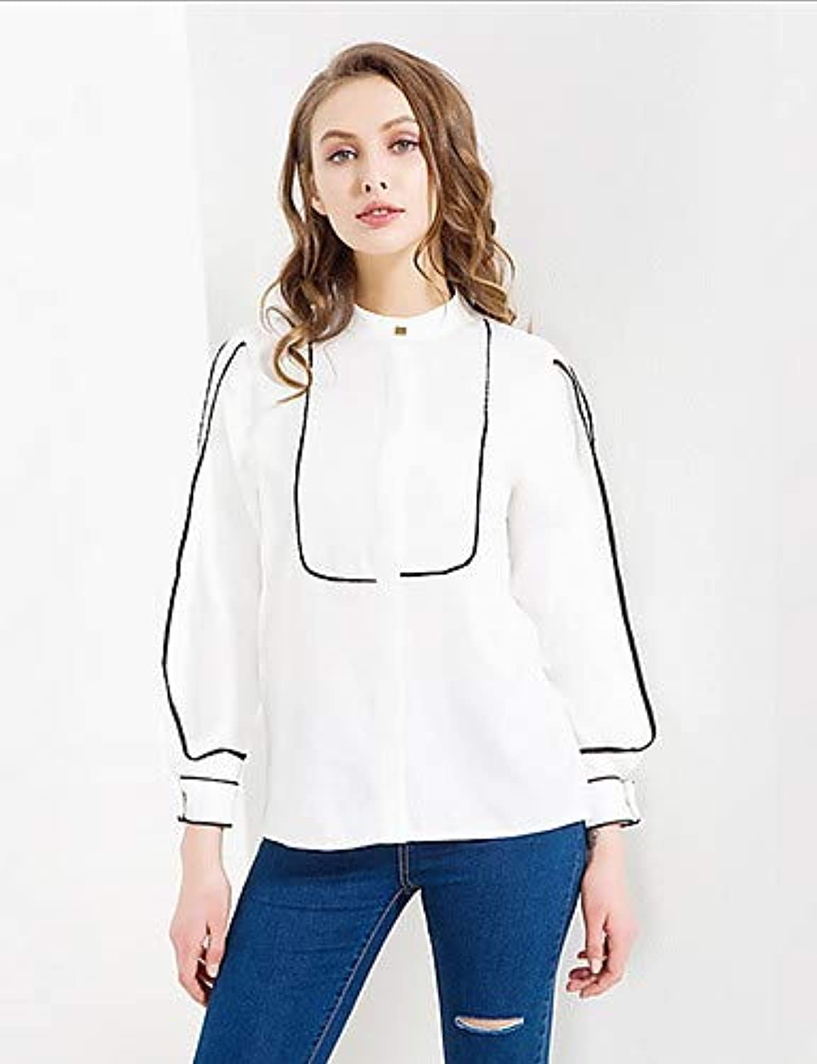 Women's Basic Shirt  Solid colord Striped