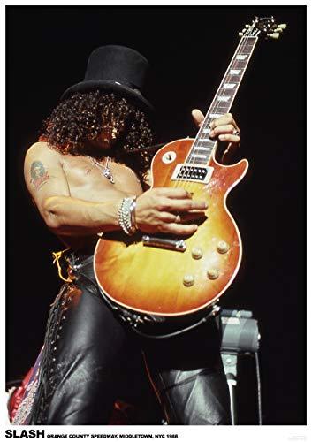 Unbekannt Guns N' Roses Poster Slash LIVE ORANGE County Speedway Middletown NYC 1988