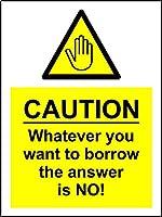 ティンサインなしで答えを借りたい場合は何でも注意してくださいヴィンテージの壁メタルプラークレトロな鉄の絵画カフェバー映画ギフト結婚式誕生日警告