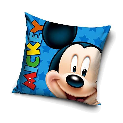 Carbotex Smile Mickey Mouse | Kinder Kissen 40 x 40 cm | Disney Micky Maus | Dekokissen