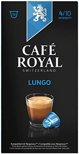 Café Royal Lungo, 50 Nespresso kompatible Kapseln, 5er Pack (5 x 10 Kaffeekapseln)