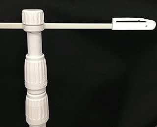 のぼりポール「3m3段伸縮のぼり竿 ホワイト」(日本ブイシーエス)