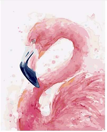 wwdfdd schilderen op nummer, geen lijst Flamingo modulaire afbeeldingen aan de muur met DIY Oil tekening op cijfers 40 cm X50 cm