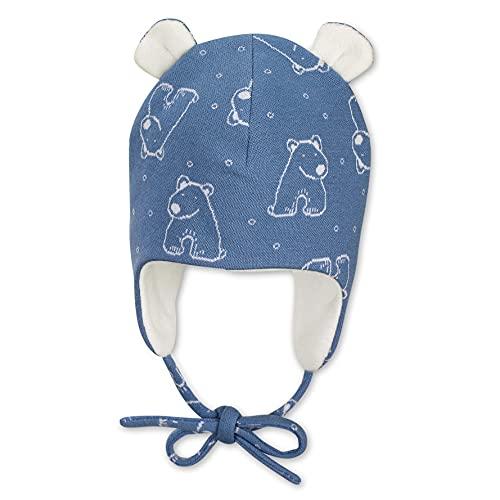 Sterntaler Baby-Jungen Inka Eisbär Mütze, Mittelblau, 43