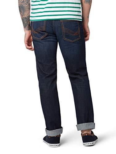 TOM TAILOR Herren Jeanshosen Marvin Straight Jeans Dark Stone wash Denim,34/34,10282,6000