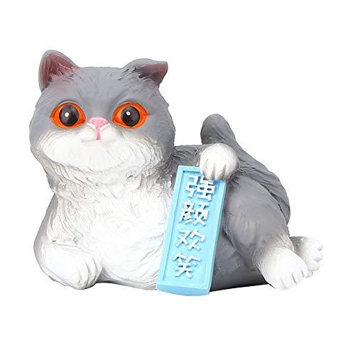 CHICIRIS Decoración de Adornos de Coche - Mini simulación de Dibujos Animados Gato Animal Modelo Figuras Regalo para decoración de Pasteles Adornos de Coche