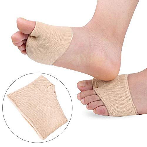Cxmm 2 pares de almohadillas de gel de silicona metatarsal, almohadilla de gel para el dolor del pie, plantilla para dedo del pie, L, Small