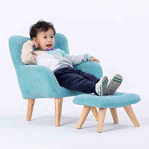HAKN Canapé pour enfants, bleu simple petit canapé siège tissu arrière (Couleur : Bleu)