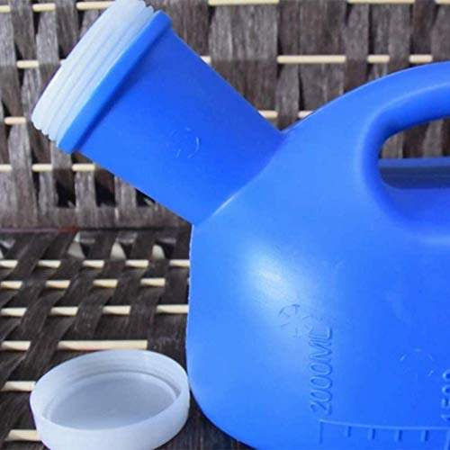 UIZSDIUZ Urinal Unisex Orinal para el automóvil, con una Tapa, Inodoro móvil, urinario portátil para el Recorrido al Aire Libre de Camping 2000ml Botella de orina