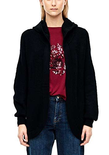 s.Oliver RED Label Damen Kuscheliger Long-Cardigan Black M