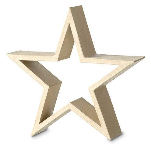 efco Star Bilderrahmen stehend, 30 x 30 x 8 cm, Pappmaché, braun