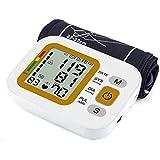 Misuratore Pressione Sanguigna Monitor Automatico Braccio Superiore Macchina Digitale, Uso Domestico con Ampio Display Digitale Rilevatore Frequenza Cardiaca