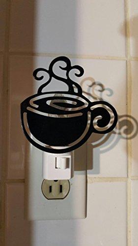 COFFEE cup silhouette NIGHT LIGHT cappucino DECOR NEW