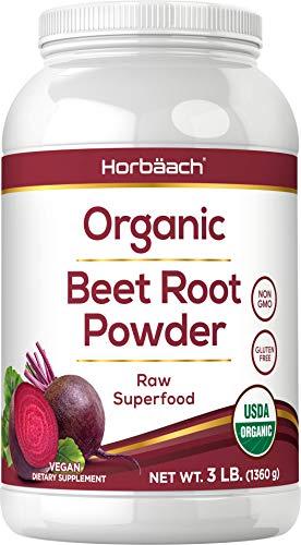 Organic Beet Root Powder | 3lb Bulk Supplement | Raw Superfood | Vegan, Non-GMO, and Gluten Free Formula | by Horbaach