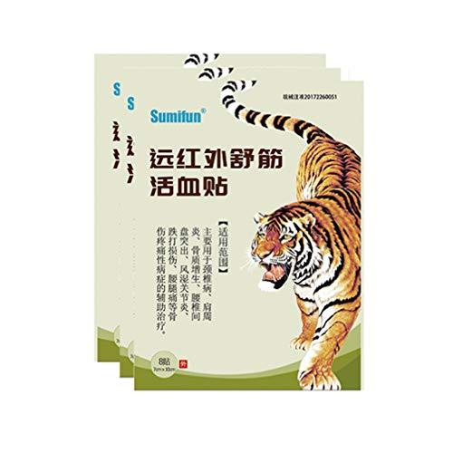Artibetter Kräuter Chinesische Schmerzpflaster Medizin Traditionelle Schmerzpflaster Schmerzlinderung Patch für Gelenkschmerzen Arthrose Rheuma 8Pcs